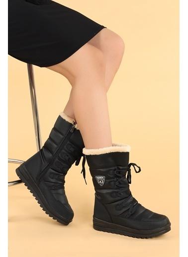 Ayakland Ayakland TWG 995 Kışlık ıçi Termal Kürklü Bayan Kar Bot Ayakkabı Siyah